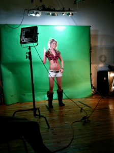 Vanda Purvis at Twin Peaks Photo Shoot recently