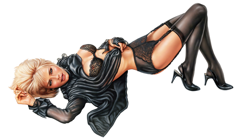 pin up doll drawings. pinup tattoo - Mezco Toyz