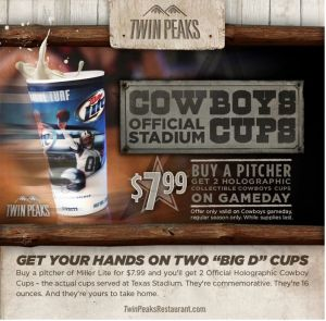 Dallas Cowboy Holographic Cups